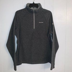 Craghoppers  gray zip mock neck pullover
